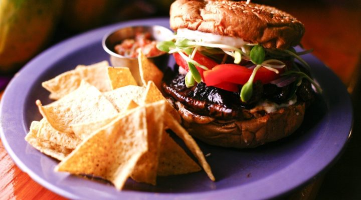 Grilled Eggplant Burgers